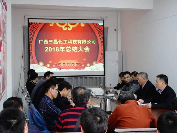 广西三晶化工科技有限公司召开2018年度总结大会