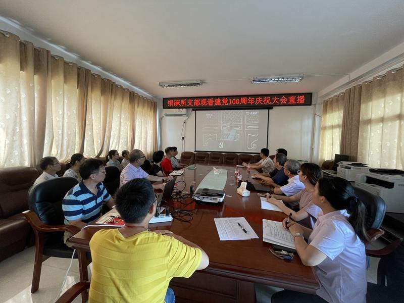 化工院党委组织观看庆祝中国共产党成立100周年大会
